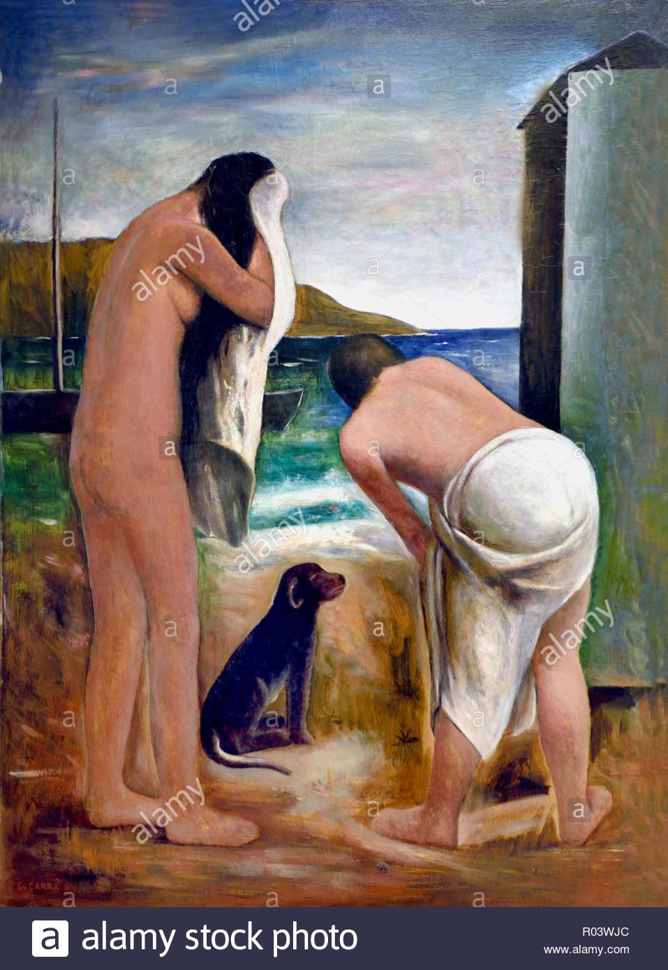 Summer 1930 Carlo Carra , Italy, Italian, - Stock Image