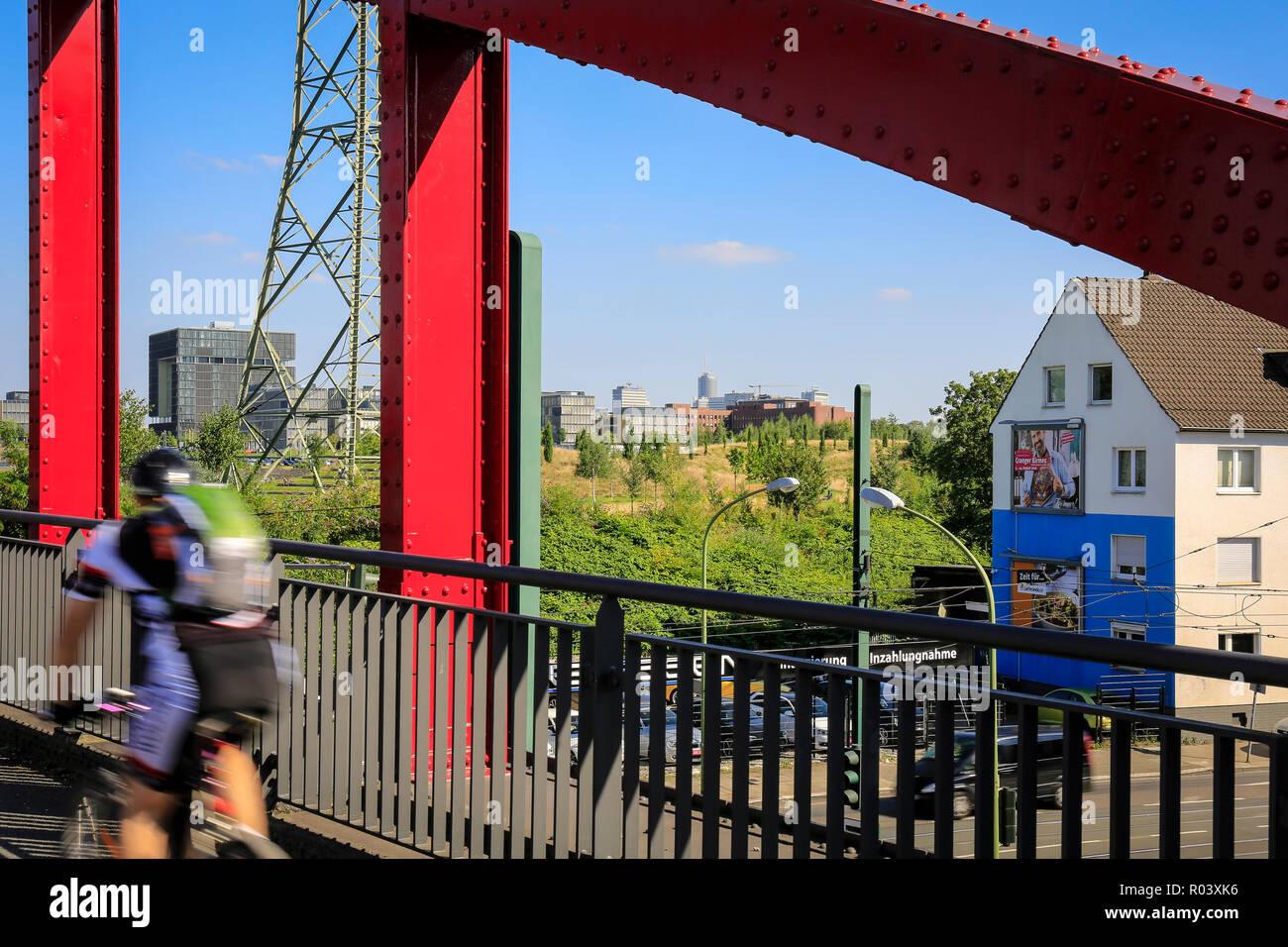 Essen, Ruhr area, Germany, Krupp-Park, urban development project Krupp-Guertel - Stock Image