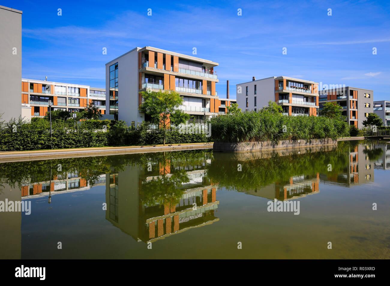 Essen, Ruhr area, Germany, urban development project Gruene Mitte Essen, new district at Uni-Park - Stock Image