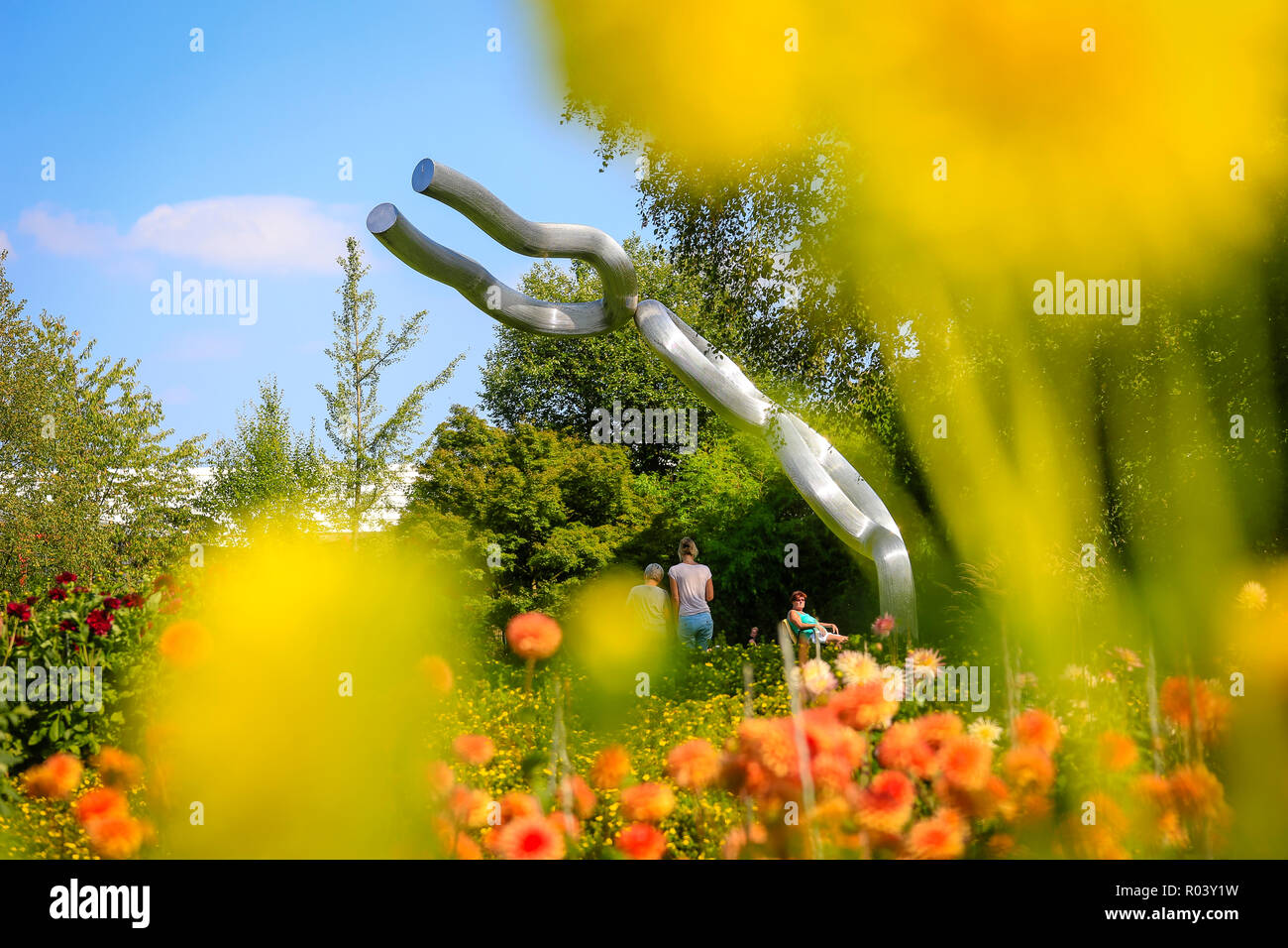 Essen, Germany, Ruhr Area, Grugapark - Stock Image