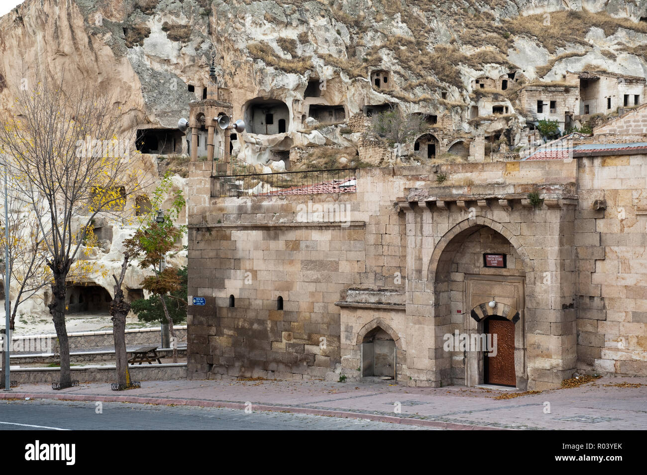 'Building by cave dwellings in Urgup, Turkey' - Stock Image
