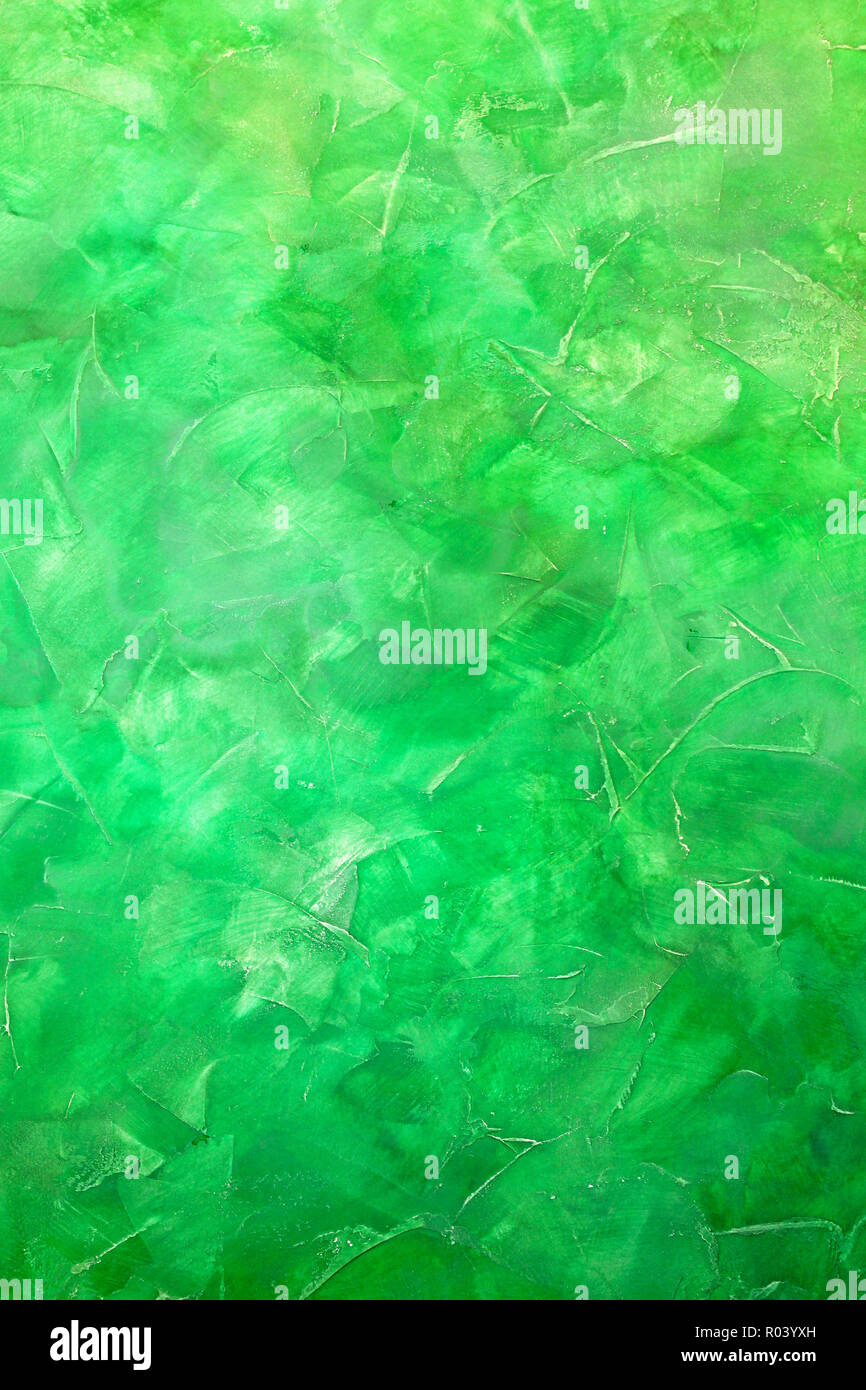 Painted Wall In Different Shades Of Green Color Stock Photo Alamy