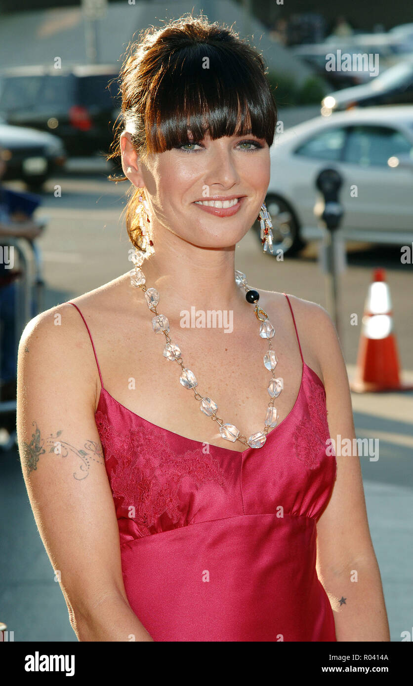 Lena Heady arriving at the Brothers Grimm Premiere at the Director Guild Theatre in Los Angeles. August 8, 2005.HeadyLena002 Red Carpet Event, Vertical, USA, Film Industry, Celebrities,  Photography, Bestof, Arts Culture and Entertainment, Topix Celebrities fashion /  Vertical, Best of, Event in Hollywood Life - California,  Red Carpet and backstage, USA, Film Industry, Celebrities,  movie celebrities, TV celebrities, Music celebrities, Photography, Bestof, Arts Culture and Entertainment,  Topix, headshot, vertical, one person,, from the year , 2005, inquiry tsuni@Gamma-USA.com - Stock Image