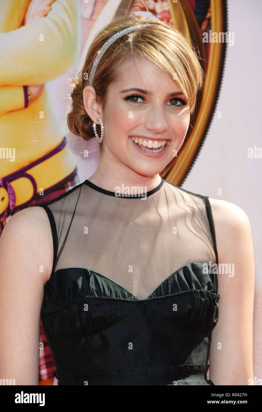 Emma Roberts Arriving At The Nancy Drew Premiere At The Chinese Theatre In Los Angeles Headshot Eye Contact Smile Black Dressrobertsemma 194 Red Carpet Event Vertical Usa Film Industry Celebrities Photography Bestof