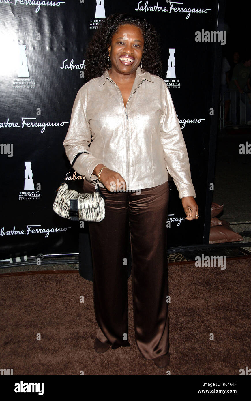 Kanye West mom arriving at the SALVATORE FERRAGAMO RODEO