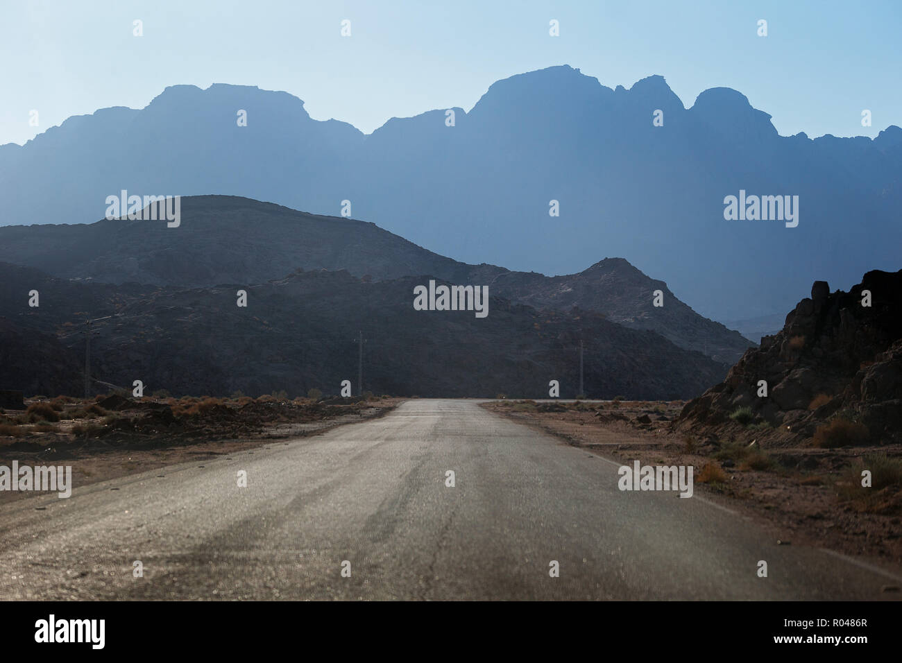 Road in South Sinai. Egypt Stock Photo