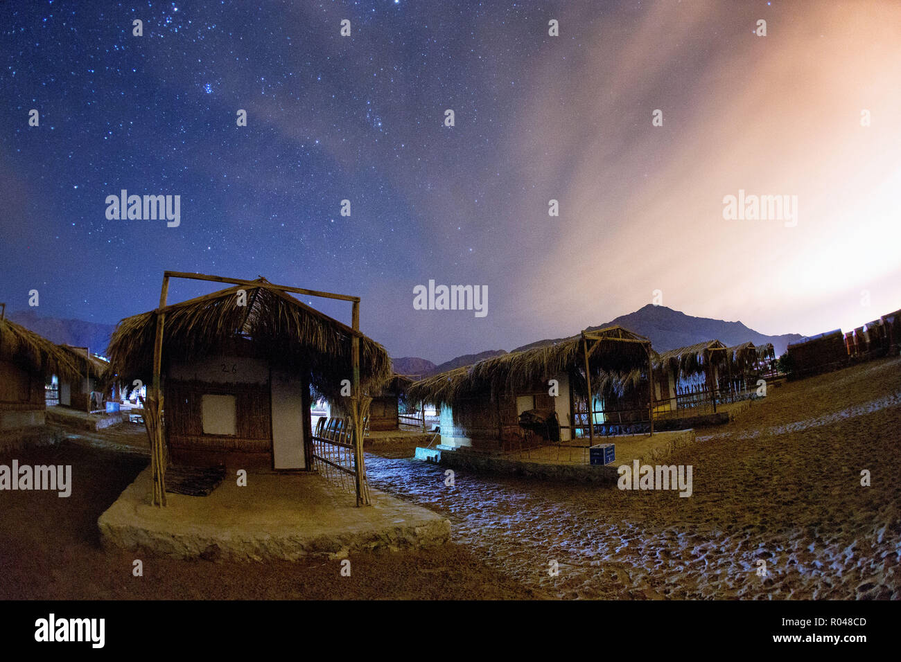 Night in desert. South Sinai. Egypt - Stock Image