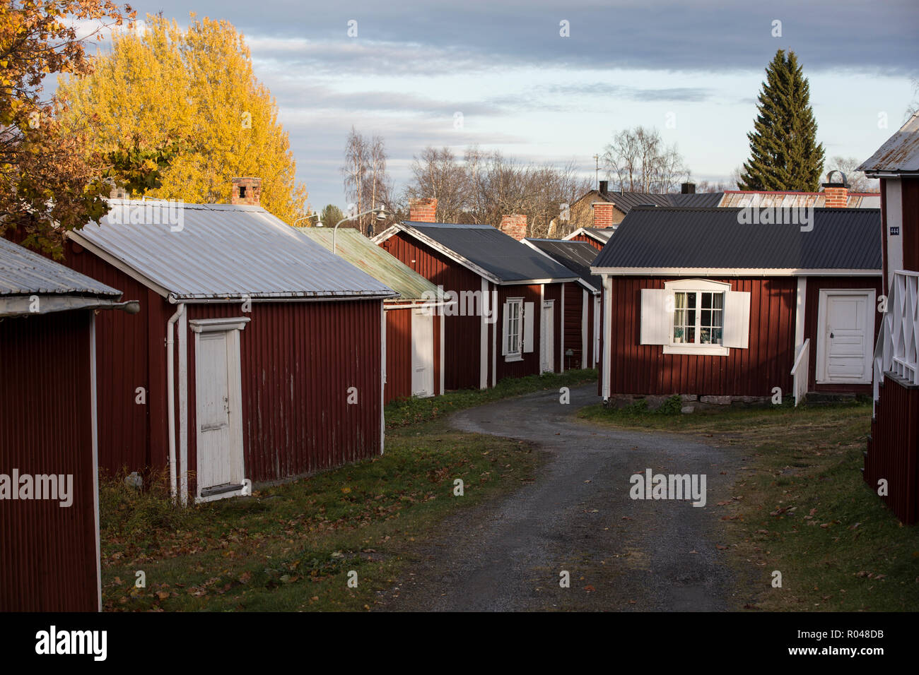 Gammelstad Church Town in Lulea in Swedish Lapland, listed as a Unesco World Heritage centre, Northern Sweden, Scandinavia - Stock Image