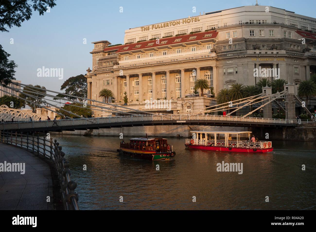 Singapore, Republic of Singapore, The Fullerton Hotel Stock Photo