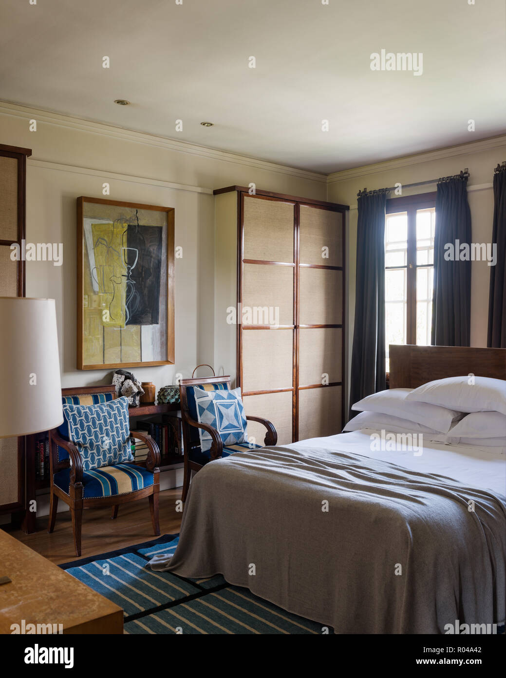 Bedroom with matching armchairs Stock Photo: 223830546 - Alamy