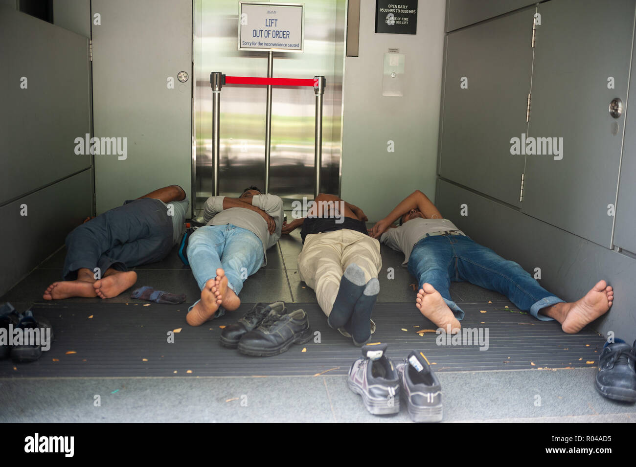 Republic of Singapore, Siesta in Downtown - Stock Image