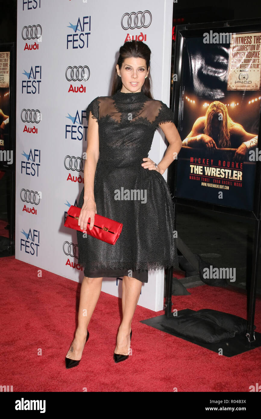 Marisa Tomei  11/06/08  AFI Fest 2008 Presents 'The Wrestler'  @ Grauman's Chinese Theatre, Hollywood Photo by Ima Kuroda/HNW / PictureLux  (November 6, 2008) File Reference # 33689_415HNWPLX - Stock Image