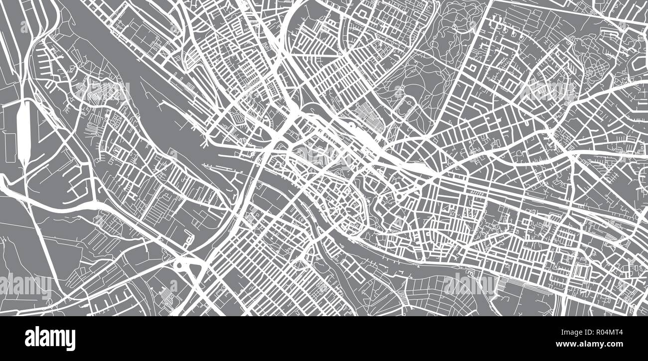 Urban Vector City Map Of Bremen Germany Stock Vector Art