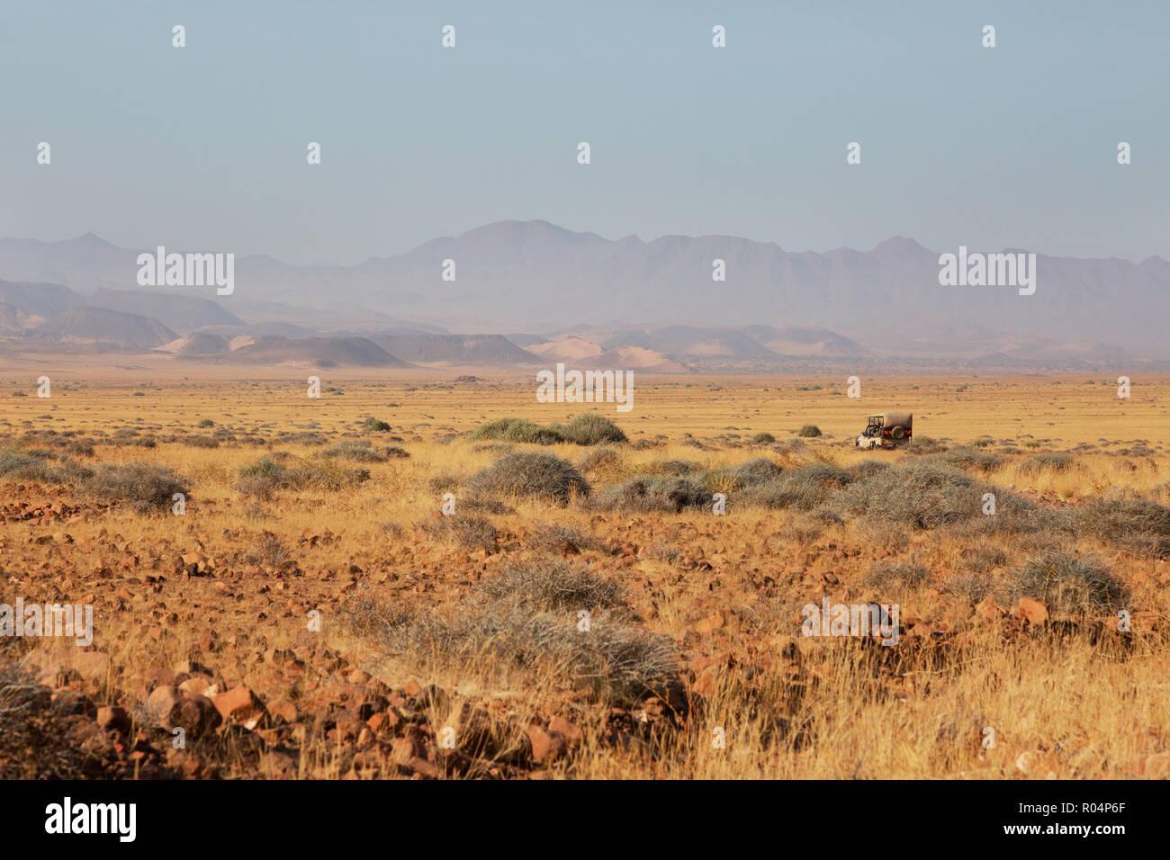 Namibia landscape - Sunrise jeep safari, Damaraland, Namibia Africa - Stock Image