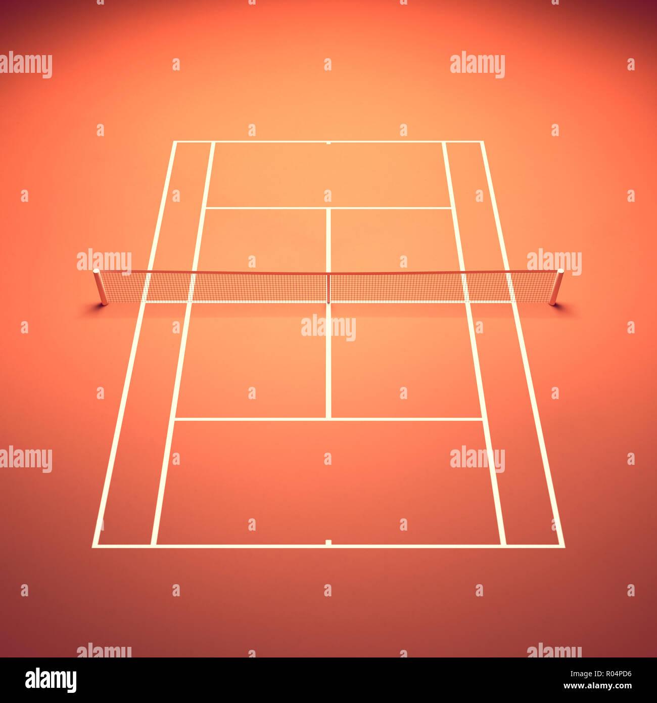 Clay Tennis Court Tennis Tournament Stock Photo 223840210 Alamy