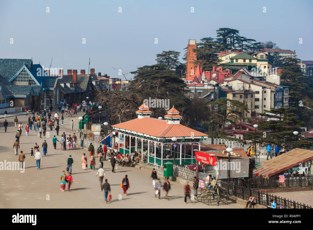 The Ridge, Shimla (Simla), Himachal Pradesh, India, Asia - Stock Image