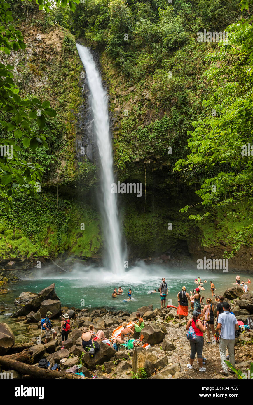 La Fortuna Waterfall, Alajuela Province, Costa Rica, Central America - Stock Image
