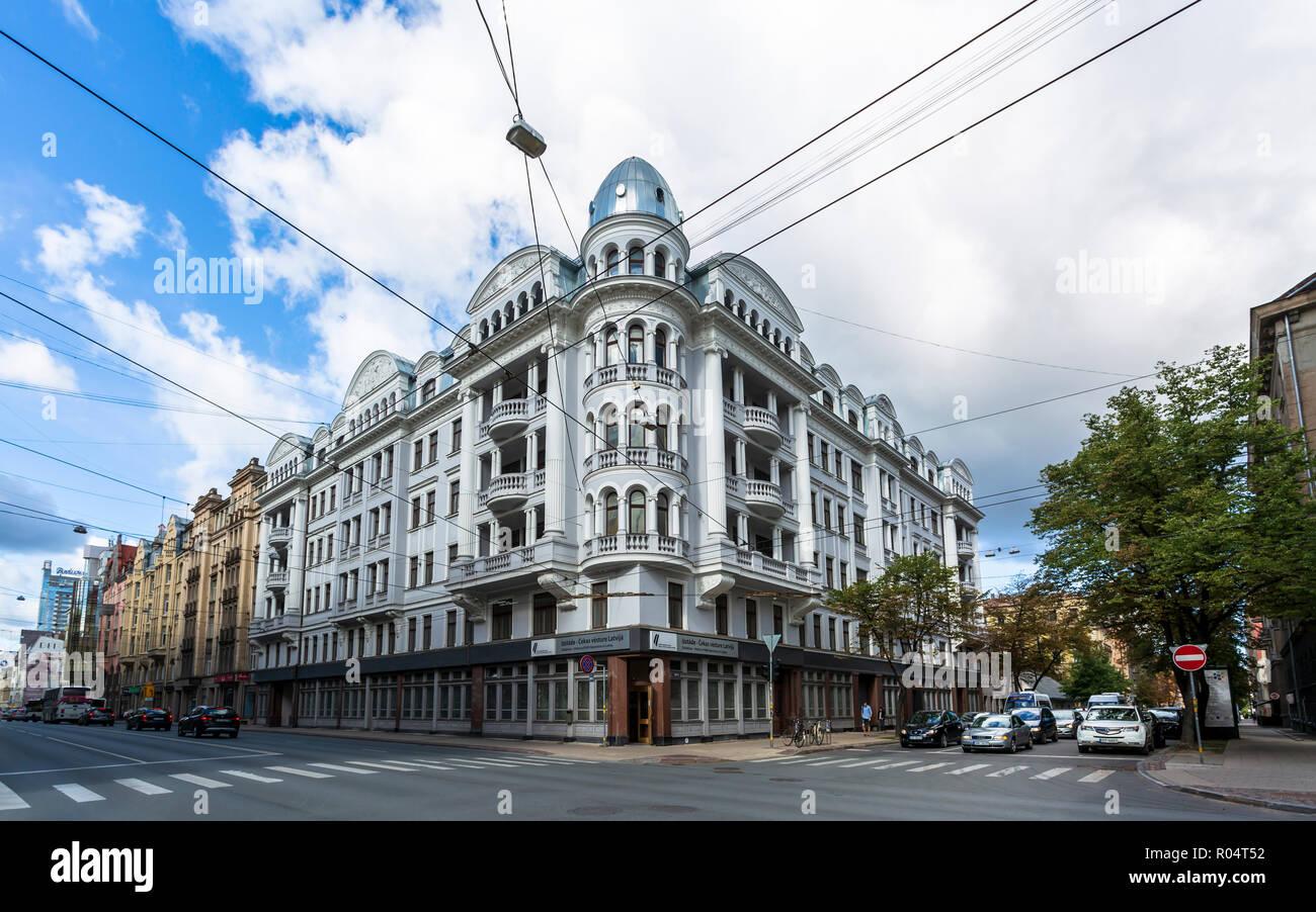 Historic KGB building, Riga, Latvia, Baltic States, Europe - Stock Image