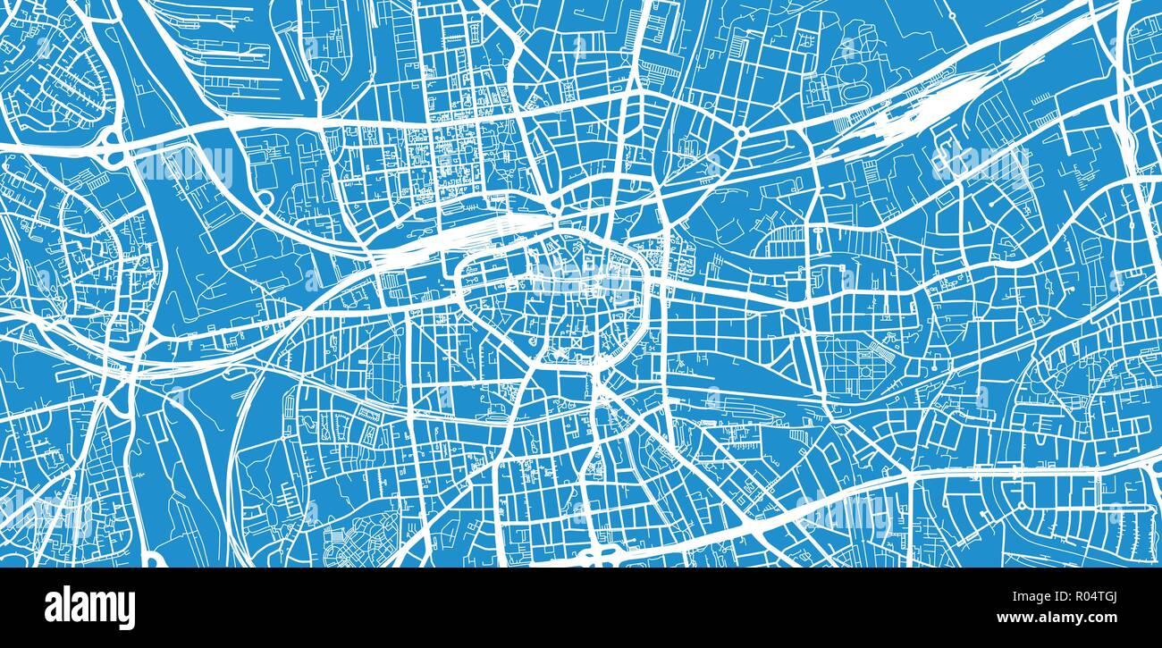 Urban Vector City Map Of Dortmund Germany Stock Vector Image Art Alamy