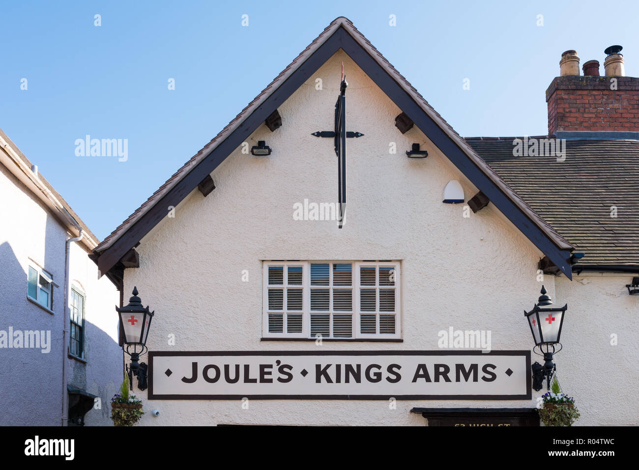 The Kings Arms pub in Church Stretton, Shropshire - Stock Image