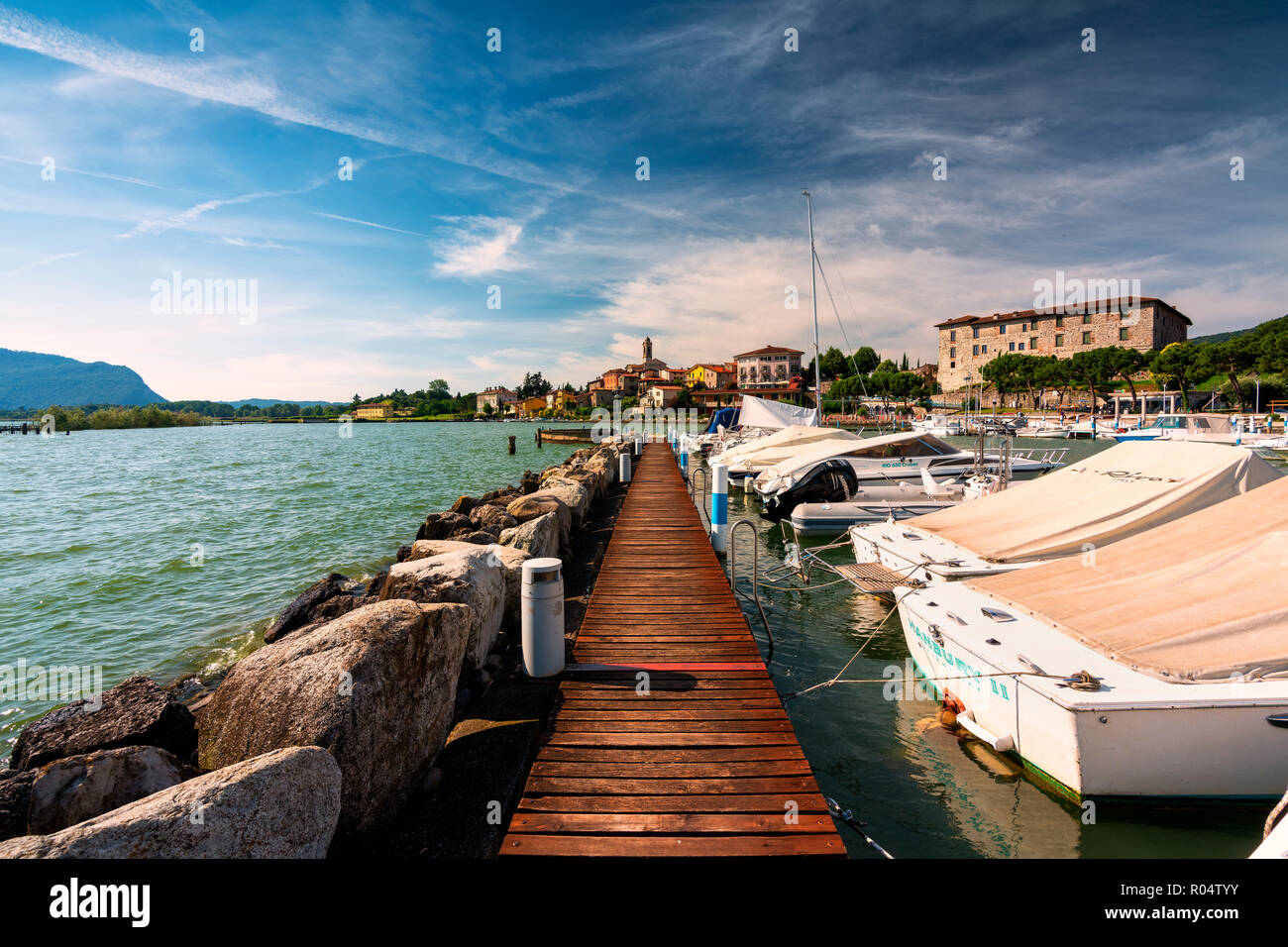 Clusane d'Iseo, Iseo Lake, Brescai province, Lombardy district, Italy, Europe - Stock Image
