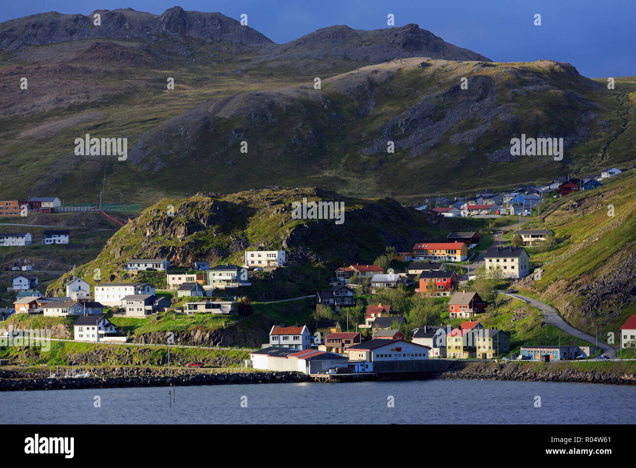 Honningsvag Town, Mageroya Island, Finnmark County, Norway, Scandinavia, Europe - Stock Image
