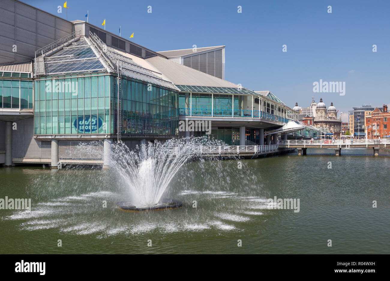 Princes Quay shopping centre - built on piles in the historic Princes Dock in Hull, Humberside, East Yorkshire - Stock Image