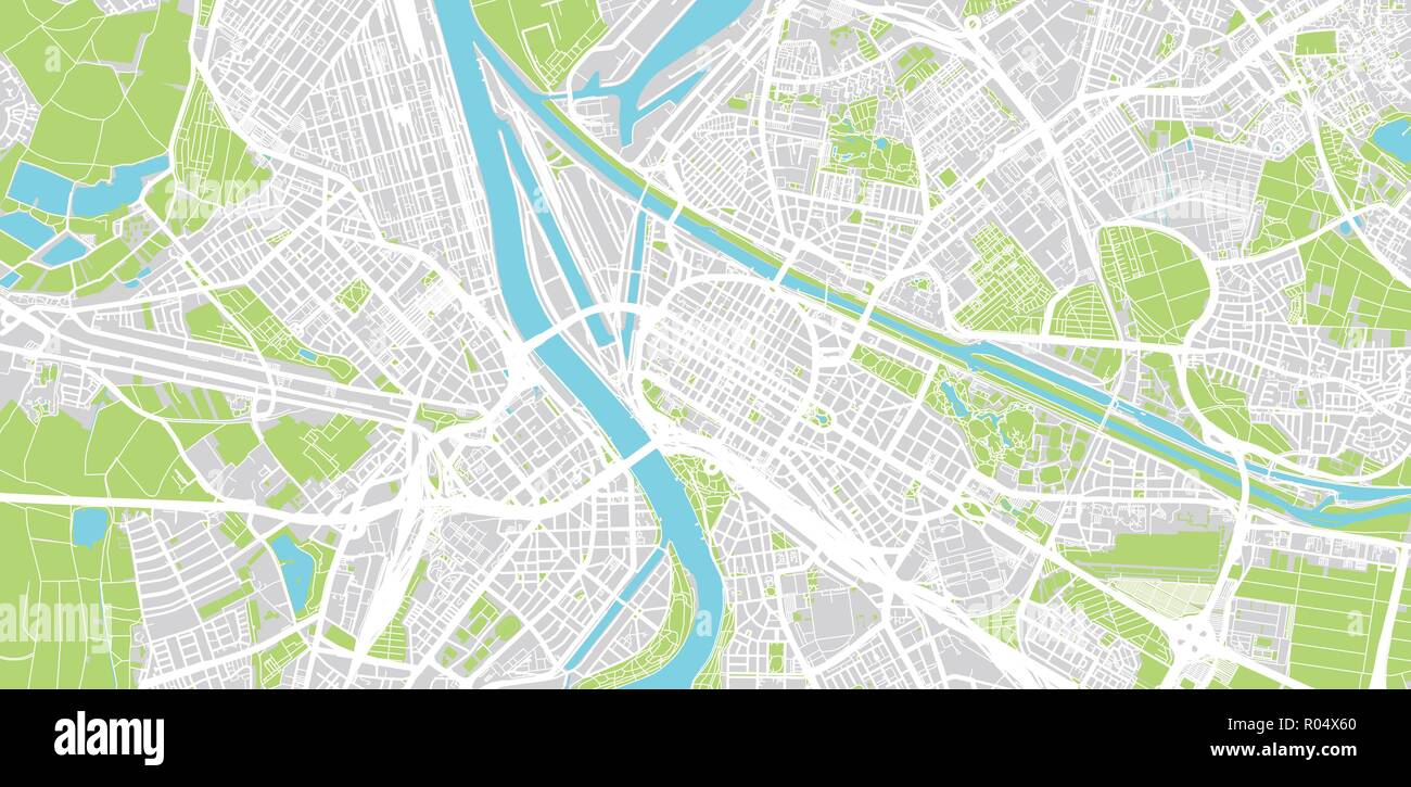 Map Of Germany Mannheim.Urban Vector City Map Of Mannheim Germany Stock Vector Art