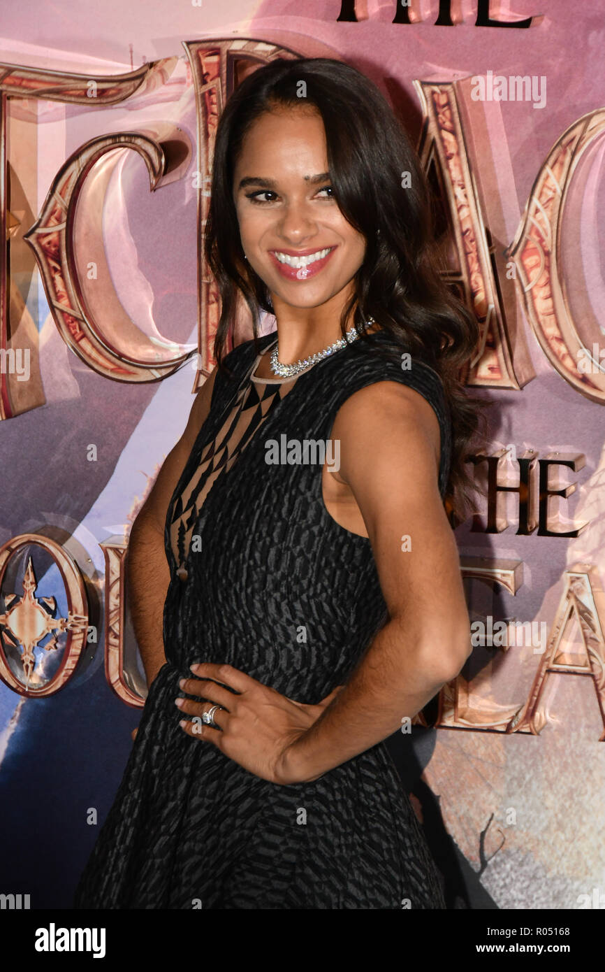 London, UK. 1st Nov 2018. Misty Copeland attend The Nutcracker and the Four Realms - UK premiere at Vue Westfield, Westfield Shopping Centre, Ariel Way on 1st Nov 2018, London, UK. Credit: Picture Capital/Alamy Live News - Stock Image