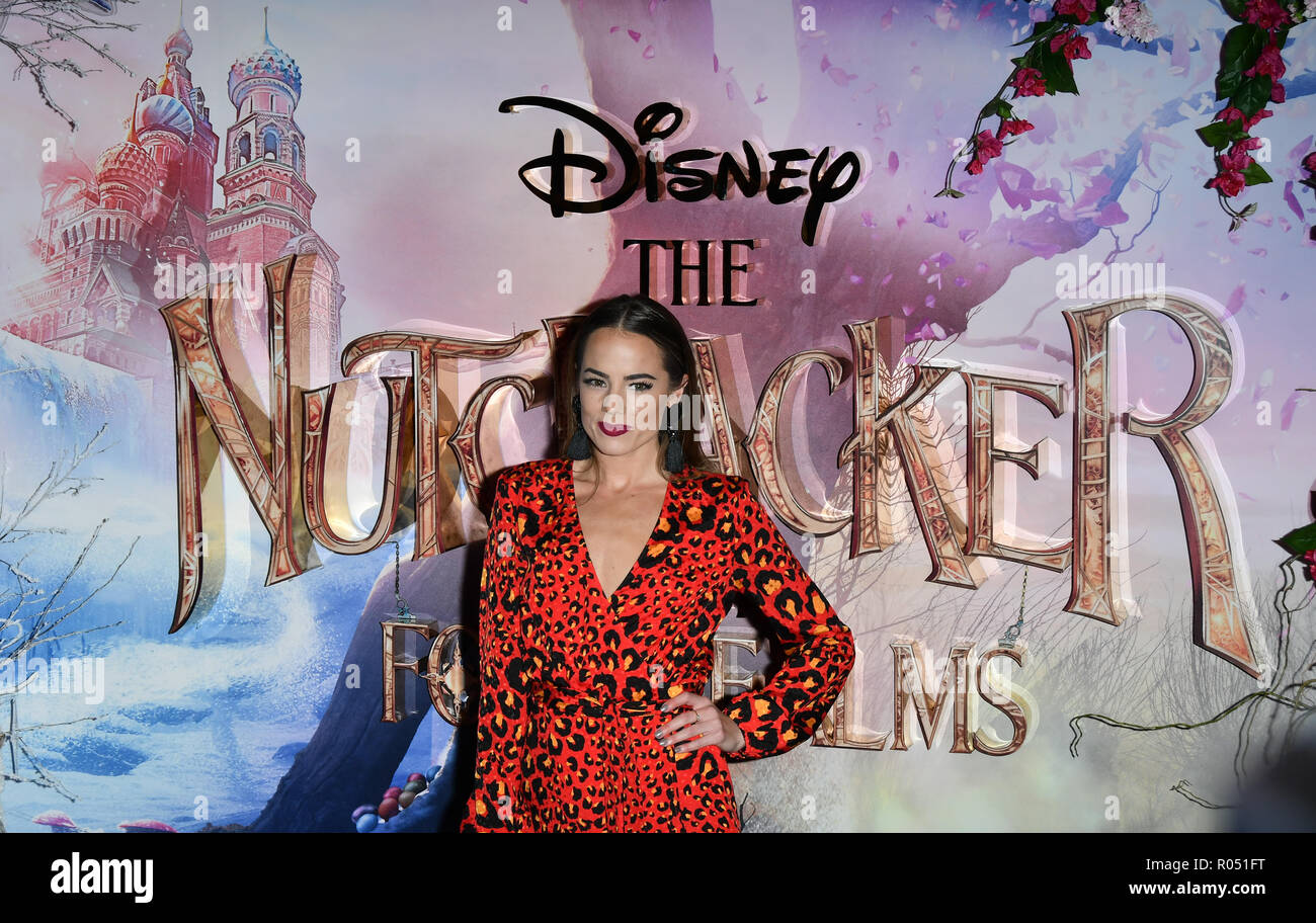 London, UK. 1st Nov 2018. Emma Conybeare attend The Nutcracker and the Four Realms - UK premiere at Vue Westfield, Westfield Shopping Centre, Ariel Way on 1st Nov 2018, London, UK. Credit: Picture Capital/Alamy Live News - Stock Image