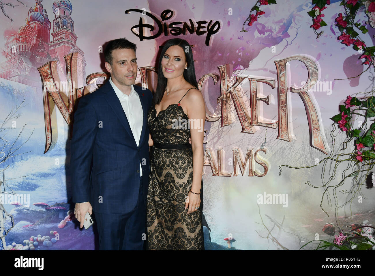 London, UK. 1st Nov 2018. Will Stoppard and Linzi Stoppard attend The Nutcracker and the Four Realms - UK premiere at Vue Westfield, Westfield Shopping Centre, Ariel Way on 1st Nov 2018, London, UK. Credit: Picture Capital/Alamy Live News - Stock Image