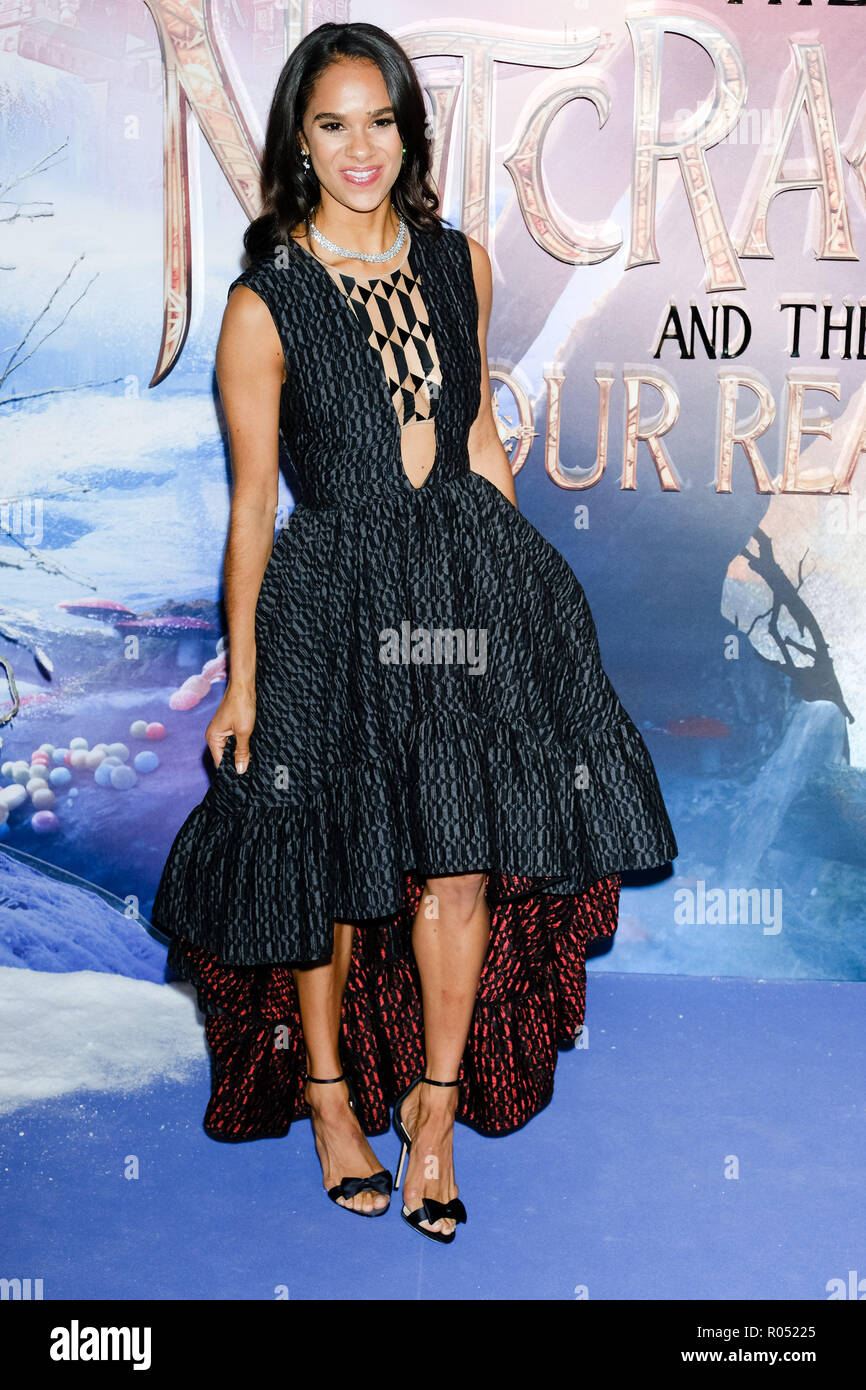 London, UK. 1st Nov 2018. Misty Copeland at The European Gala of The Nutcracker and the Four Realms on Thursday 1 November 2018 held at VUE Westfield, London. Pictured: Misty Copeland. Picture by Julie Edwards. Credit: Julie Edwards/Alamy Live News - Stock Image