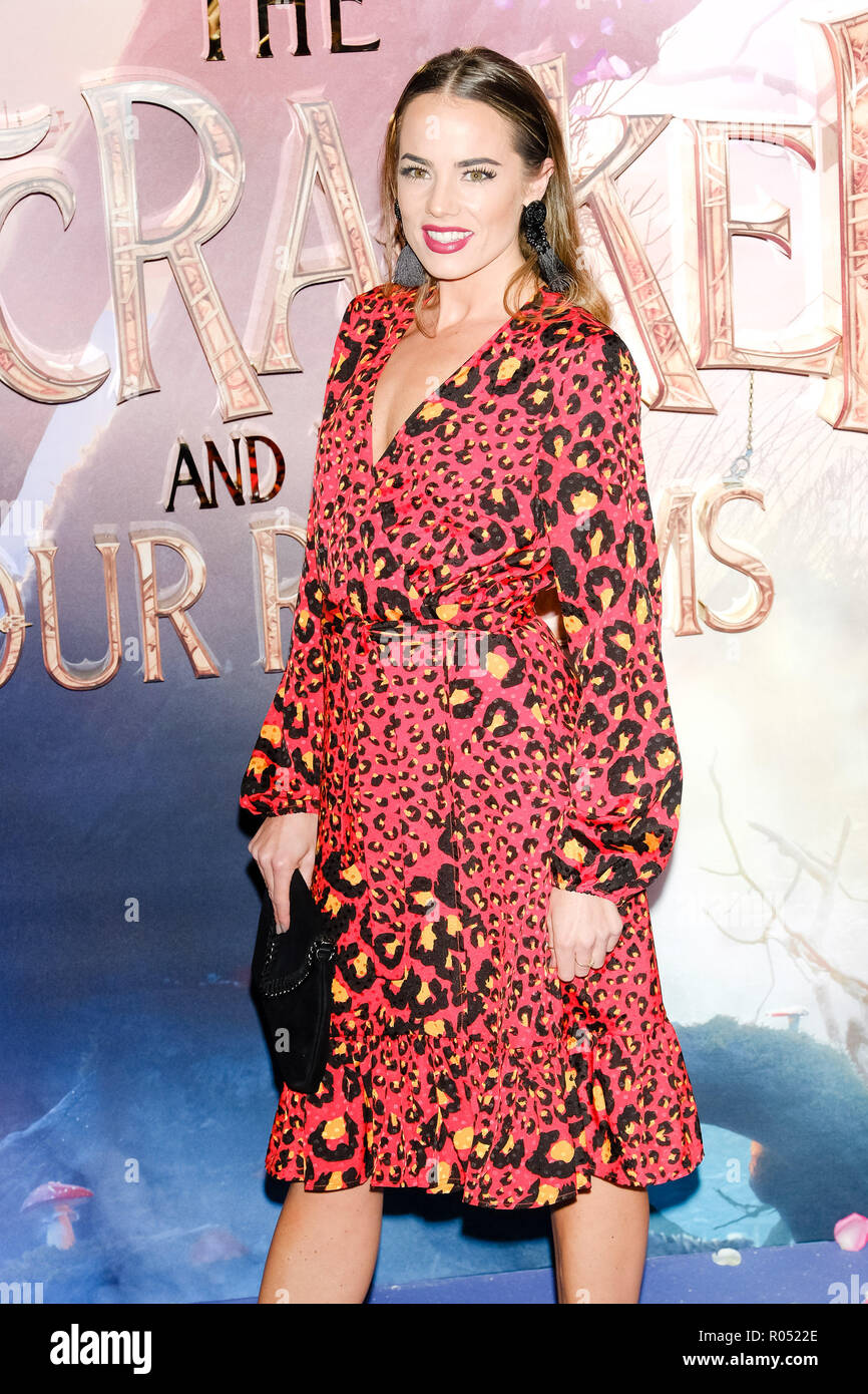 London, UK. 1st Nov 2018. Emma Conybeare at The European Gala of The Nutcracker and the Four Realms on Thursday 1 November 2018 held at VUE Westfield, London. Pictured: Emma Conybeare. Picture by Julie Edwards. Credit: Julie Edwards/Alamy Live News - Stock Image