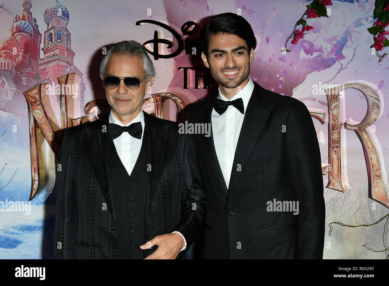 Andrea Bocelli attend The Nutcracker and the Four Realms - UK premiere at Vue Westfield, Westfield Shopping Centre, Ariel Way on 1st Nov 2018, London, UK. - Stock Image