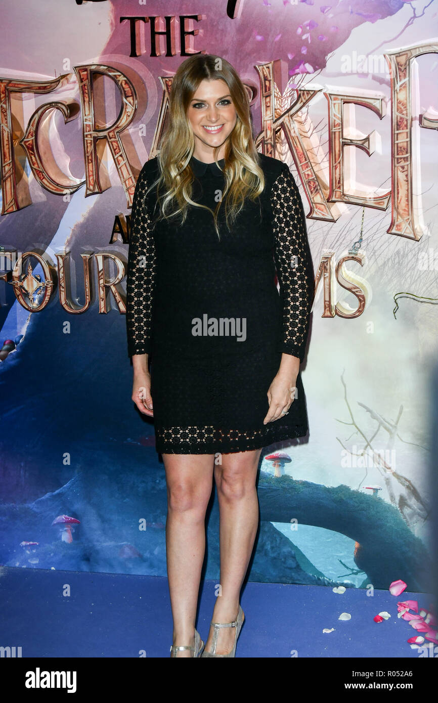 Anna Williamson attend The Nutcracker and the Four Realms - UK premiere at Vue Westfield, Westfield Shopping Centre, Ariel Way on 1st Nov 2018, London, UK. - Stock Image