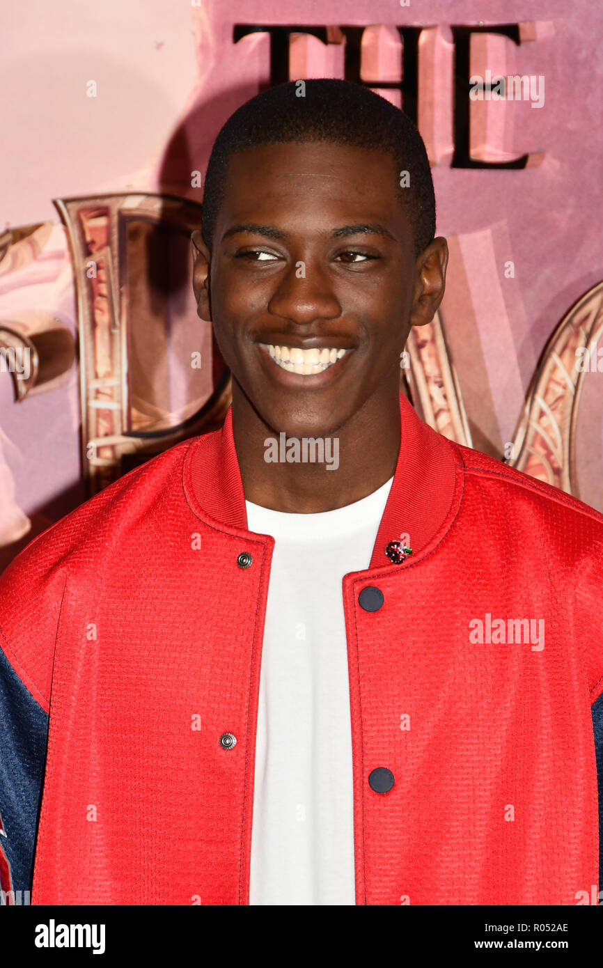 Jayden Fowora-Knight attend The Nutcracker and the Four Realms - UK premiere at Vue Westfield, Westfield Shopping Centre, Ariel Way on 1st Nov 2018, London, UK. - Stock Image