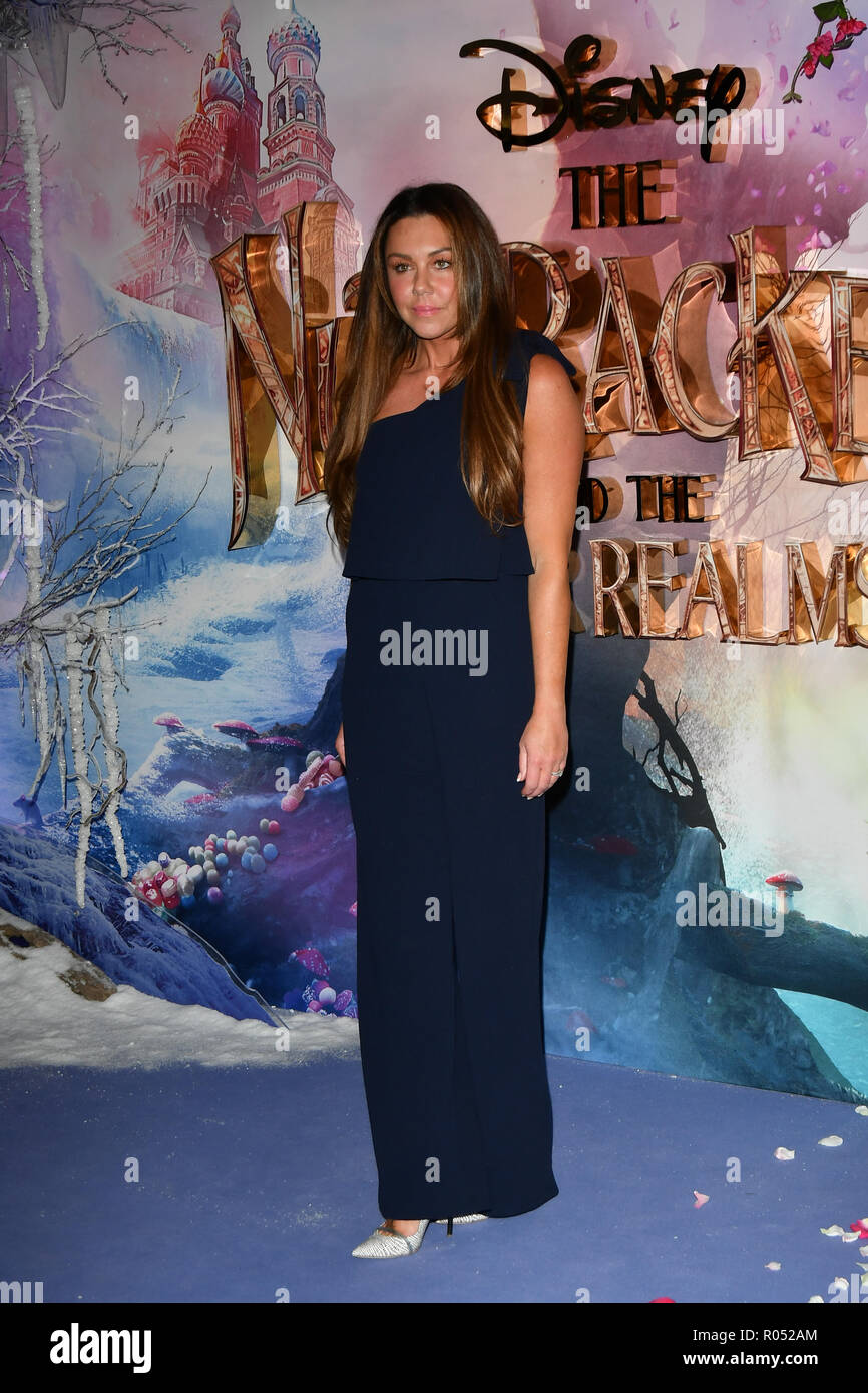 Michelle Heaton attend The Nutcracker and the Four Realms - UK premiere at Vue Westfield, Westfield Shopping Centre, Ariel Way on 1st Nov 2018, London, UK. - Stock Image