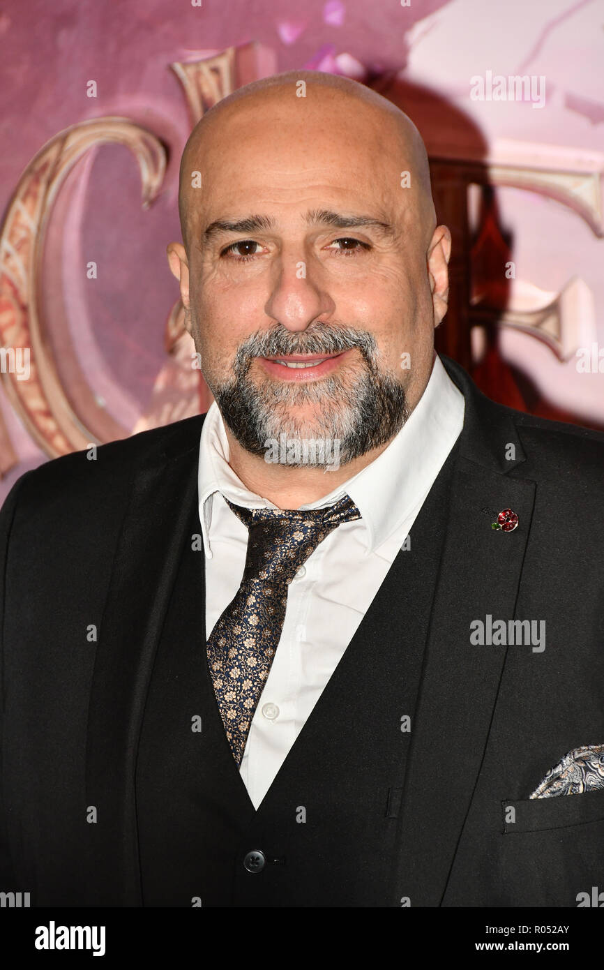 British actor and comedian Omid Djalili attend The Nutcracker and the Four Realms - UK premiere at Vue Westfield, Westfield Shopping Centre, Ariel Way on 1st Nov 2018, London, UK. - Stock Image