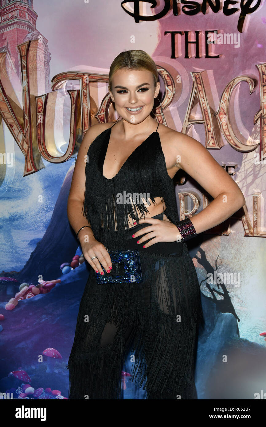 Tallia Storm attend The Nutcracker and the Four Realms - UK premiere at Vue Westfield, Westfield Shopping Centre, Ariel Way on 1st Nov 2018, London, UK. - Stock Image