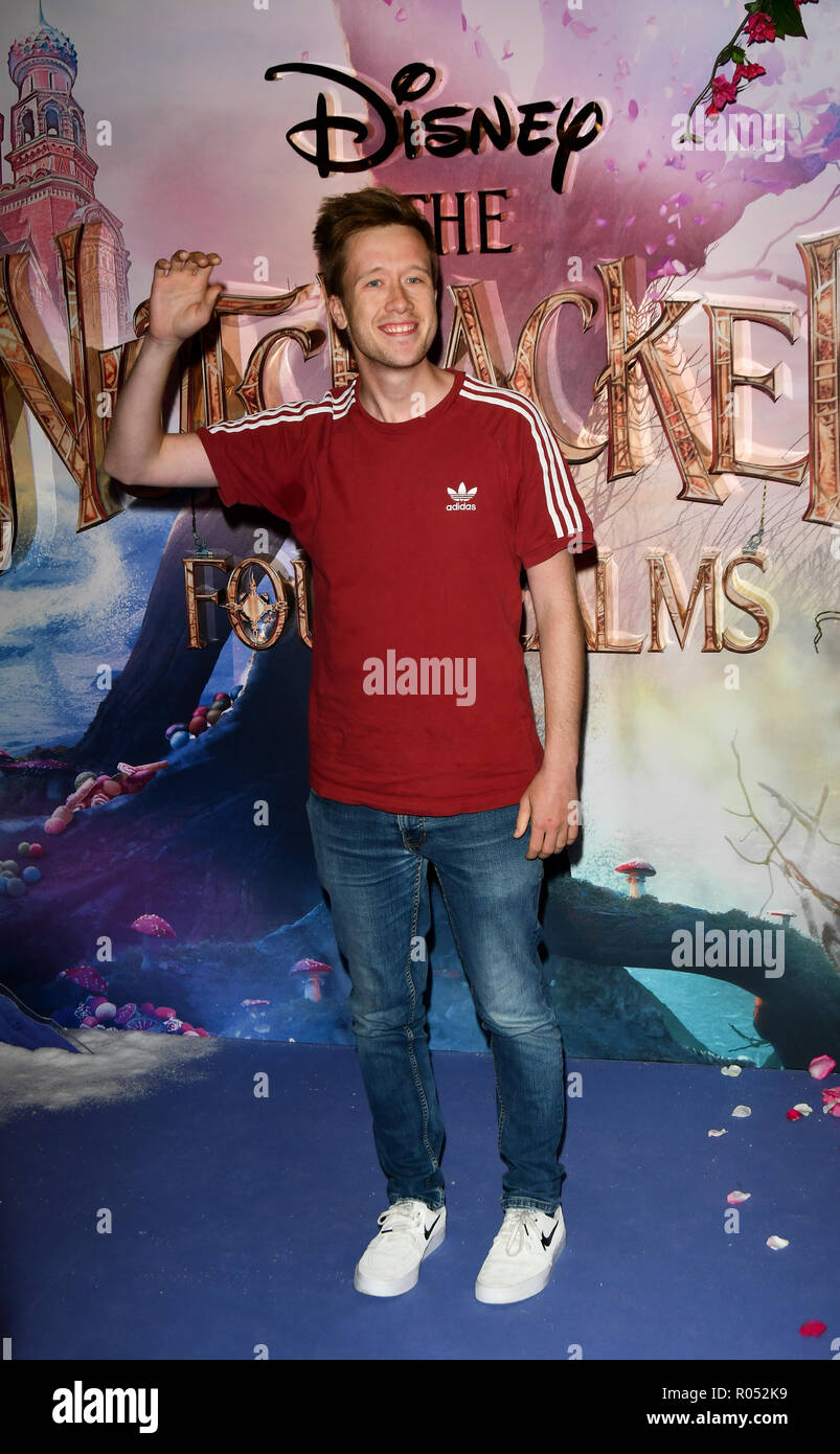 Dan Simpson attend The Nutcracker and the Four Realms - UK premiere at Vue Westfield, Westfield Shopping Centre, Ariel Way on 1st Nov 2018, London, UK. - Stock Image