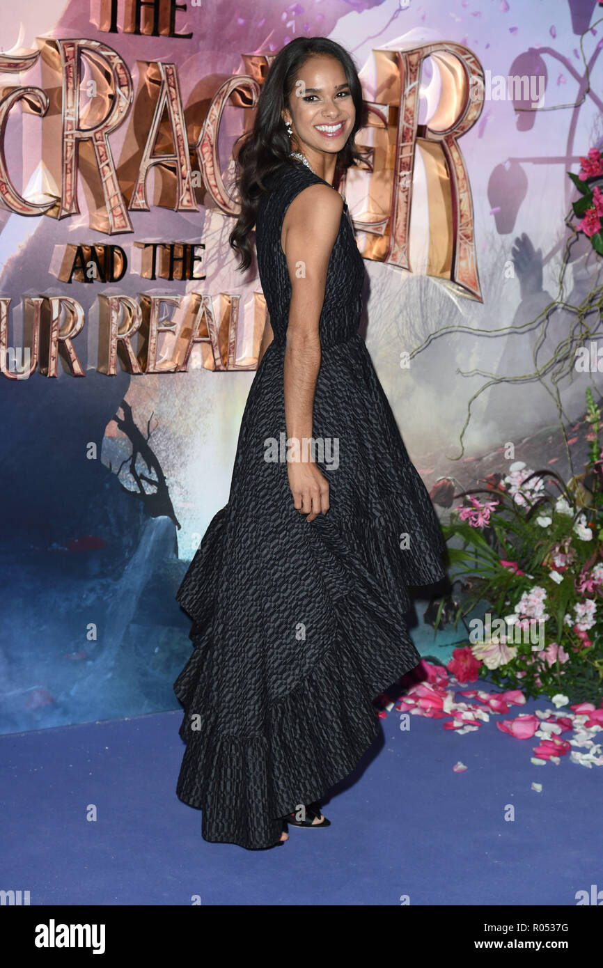 LONDON, UK. November 01, 2018: Misty Copeland at the European premiere of 'The Nutcracker and the Four Realms' at the Vue Westfield, White City, London. Picture: Steve Vas/Featureflash Credit: Paul Smith/Alamy Live News - Stock Image