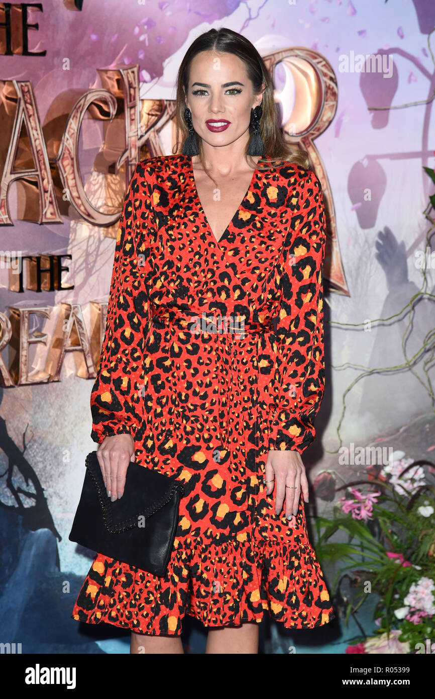 LONDON, UK. November 01, 2018: Emma Conybeare at the European premiere of 'The Nutcracker and the Four Realms' at the Vue Westfield, White City, London. Picture: Steve Vas/Featureflash Credit: Paul Smith/Alamy Live News - Stock Image