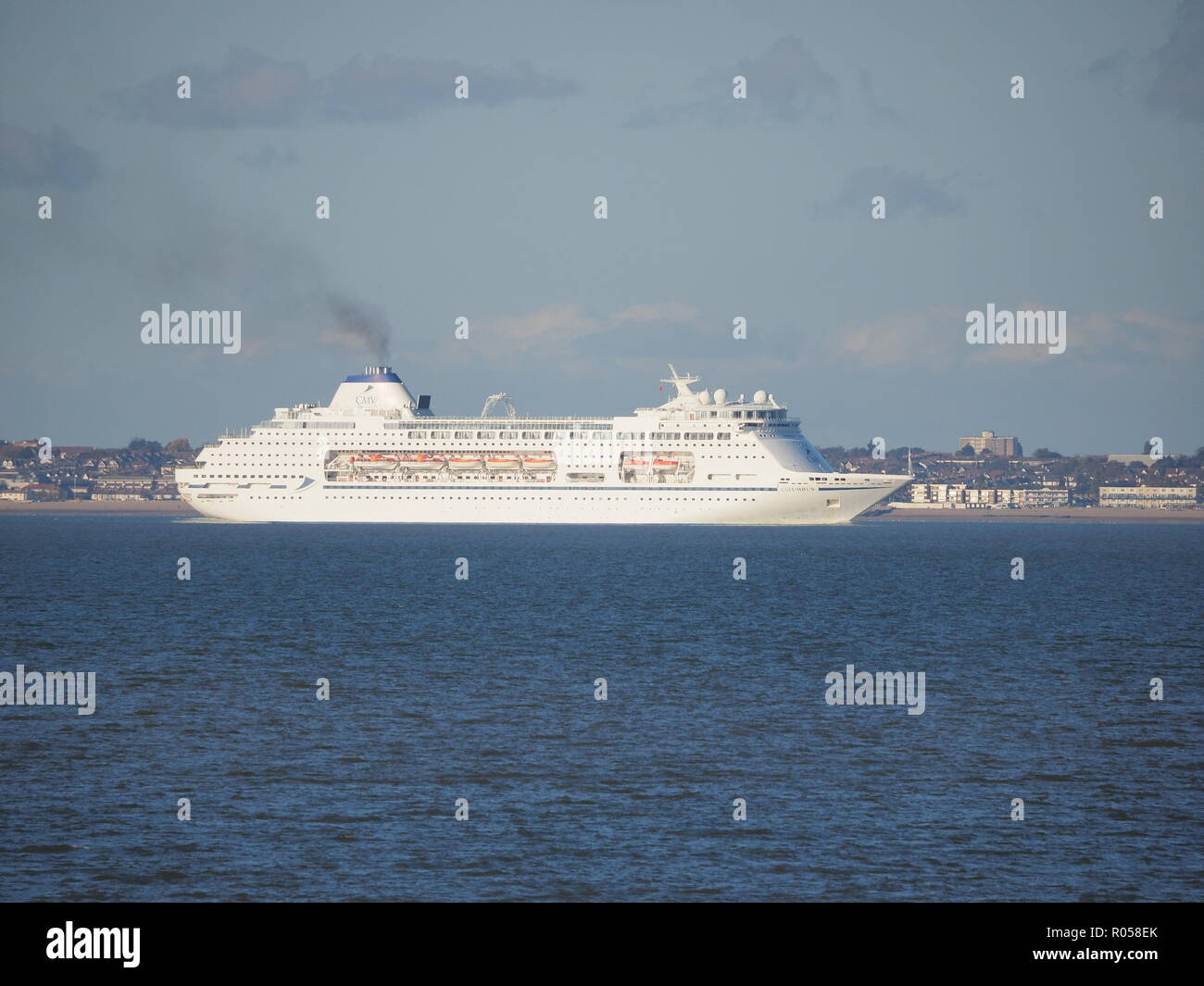 Sheerness, Kent, UK. 2nd Nov, 2018. Cruise ship 'Columbus' passing Sheerness on a sunny afternoon. Columbus is 246m long by 32m wide and was purpose-built in 1988 for deep sea ocean cruising.  Credit: James Bell/Alamy Live News Stock Photo