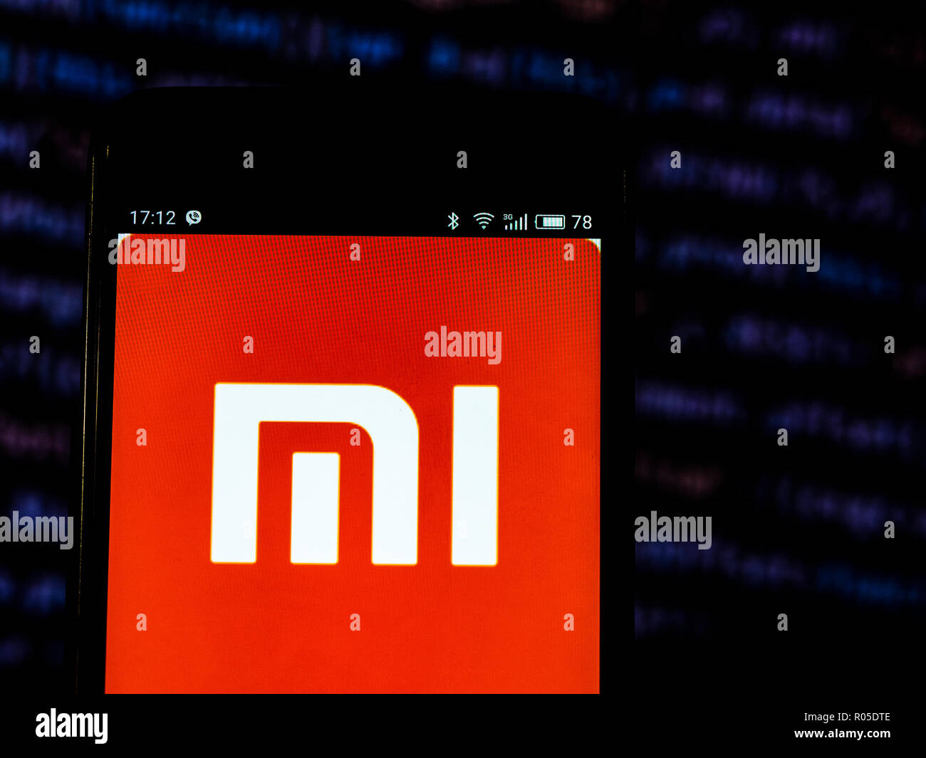 Xiaomi Consumer electronics company logo seen displayed on