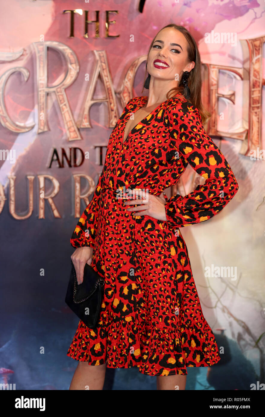 Emma Conybeare attending the European Premiere of The Nutcracker and the Four Realms held at the Vue, Westfield London. PRESS ASSOCIATION Photo. Picture date: Thursday November 1, 2018. Photo credit should read: David Parry/PA Wire - Stock Image