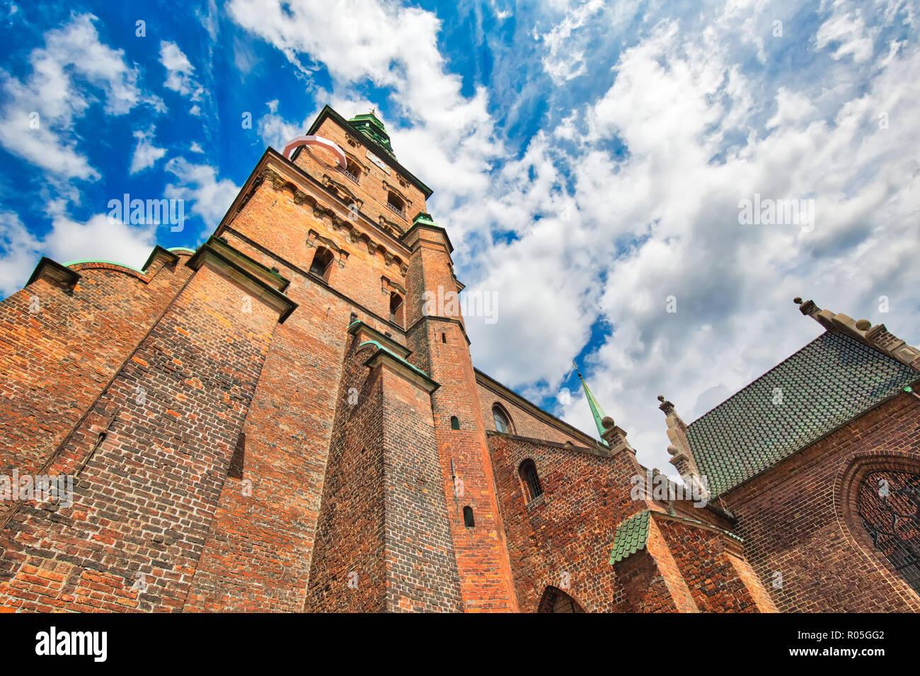 Copenhagen, Saint Nicholas Church (Kunsthallen Nikolaj) - Stock Image
