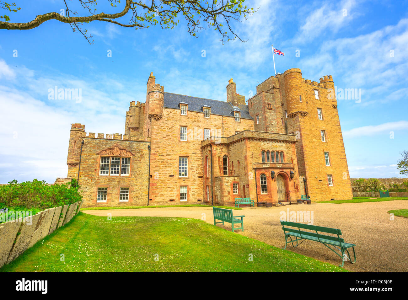 Castle of Mey of the Highland in Scotland, United Kingdom. Stock Photo