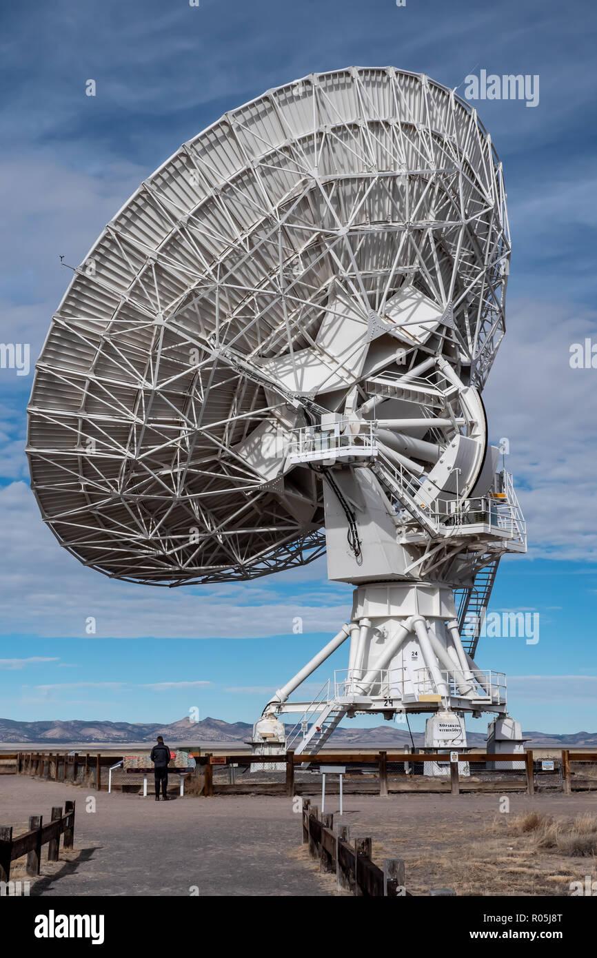 Very Large Array (VLA) Radio Telescopes in New Mexico, USA Stock Photo