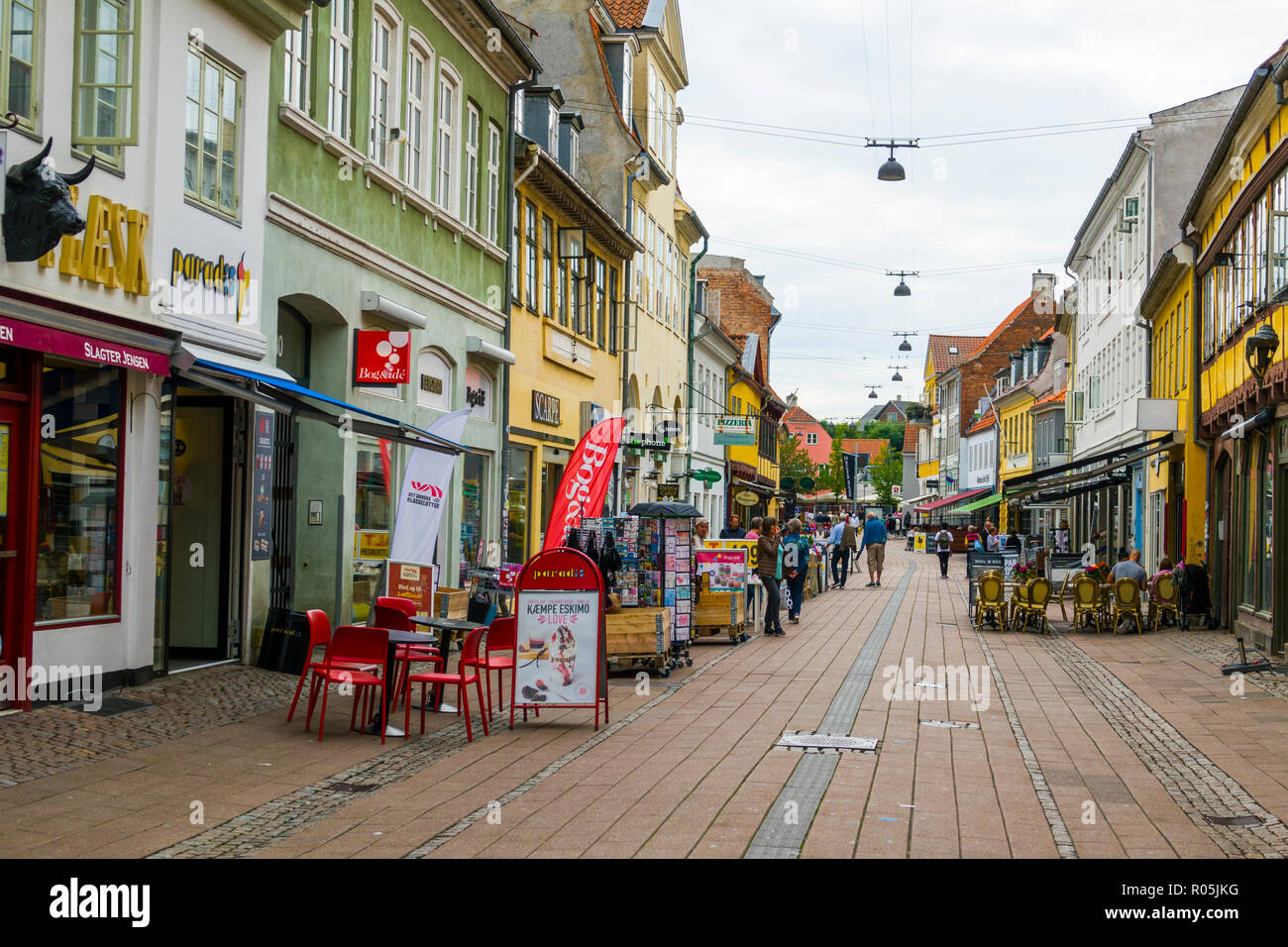 Helsingor also known as Elsinore is a port city in eastern Denmark - Stock Image