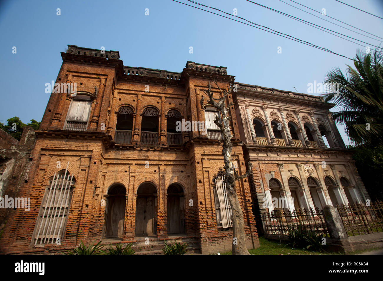 An ancient residential house in Panam City in Sonargaon, was built during the Mughal period in 16th century. Panam City is a unique example of early u - Stock Image